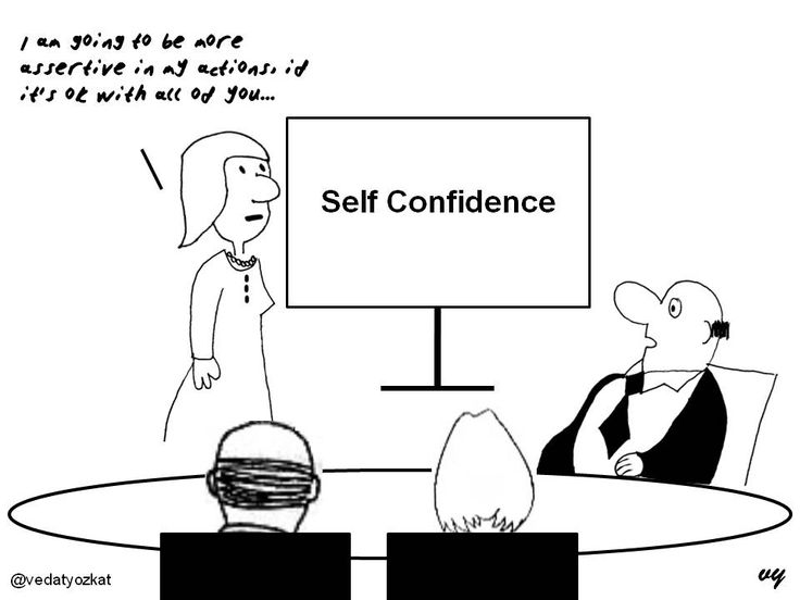 Image result for lack of confidence cartoon
