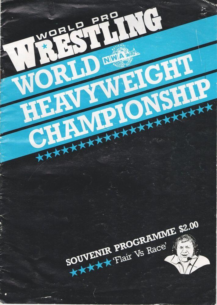 NWA Wrestling Program New Zealand Harley Race Ric Flair Title Change Program 84