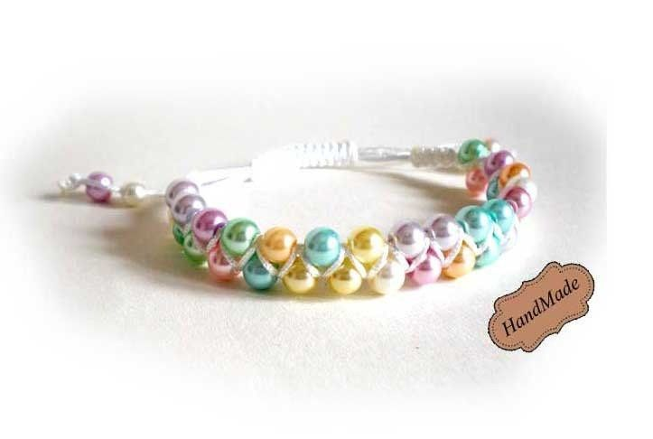 Bracciale amicizia braccialetto shamballa colori soft donna Artigianale NEW!, by mosquitonero shop, 3,99  su misshobby.com