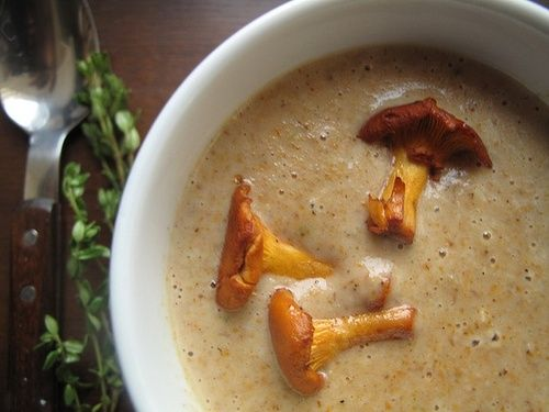 chowders chanterelle mushroom chowder soup bacon corn onion garlic ...