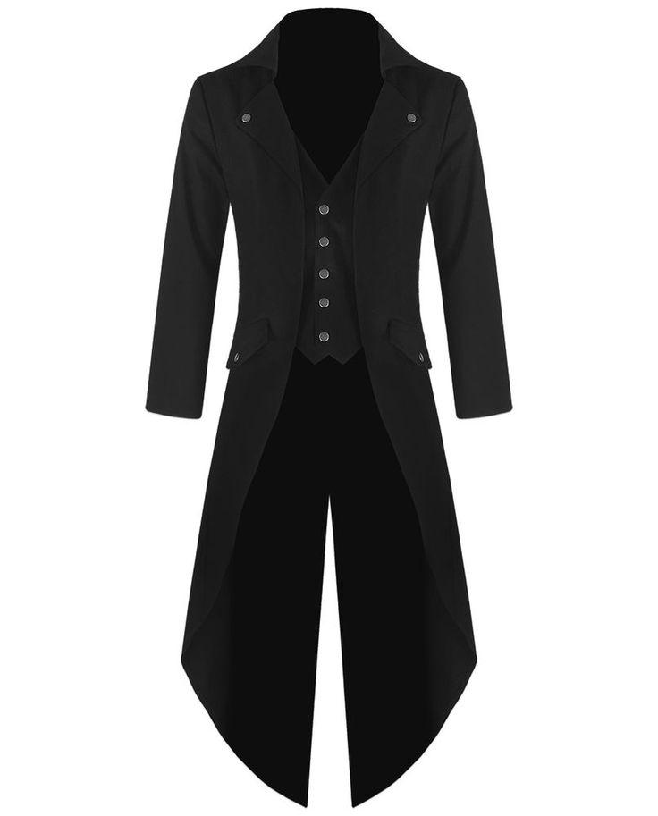 Prohibido Para Hombre Steampunk Frac Chaqueta Negro Gótico Victoriano Abrigo De Colección | Ropa, calzado y accesorios, Ropa para hombre, Abrigos y chaquetas | eBay!