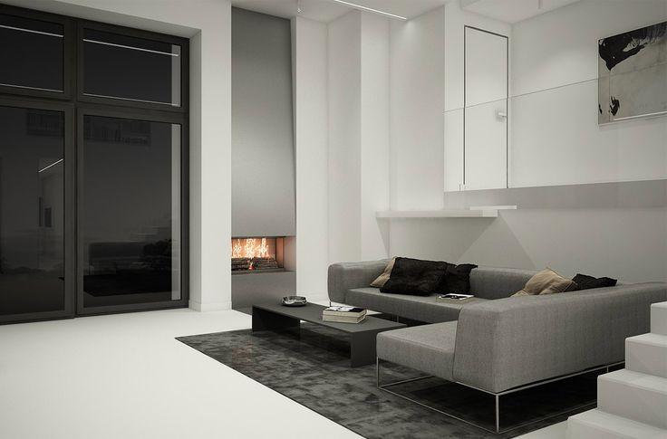 PULVA, minimalistic, interior design, minimal, modern, materials, home, homestyle, house, dom, light, details, texture, white, pure, black, living room, living divani