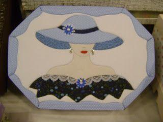 Mosaicos Eliane Amorim: Caixa azul em patchwork embutido