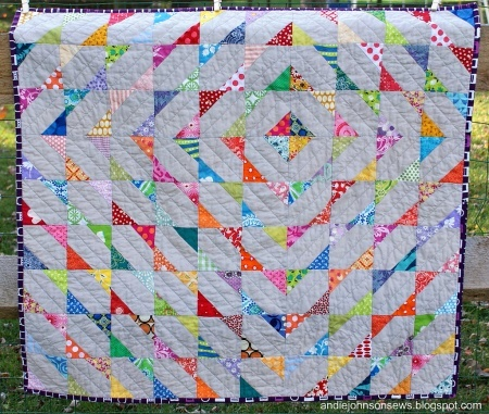 Scrappy baby quilt from the Modern Quilt Guild website: Modern Scrappy, Johnson Sewing, Baby Quilts Patterns, Scrappy Baby, Scrappy Quilts, Quilts Ideas, Bright Colors, Andy Johnson, Modern Quilts