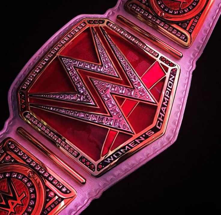 The new WWE Women's Championship that was unveiled at WrestleMania.