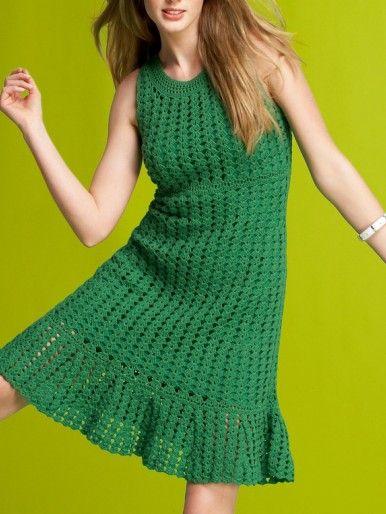 crochet dress - how cute is that?
