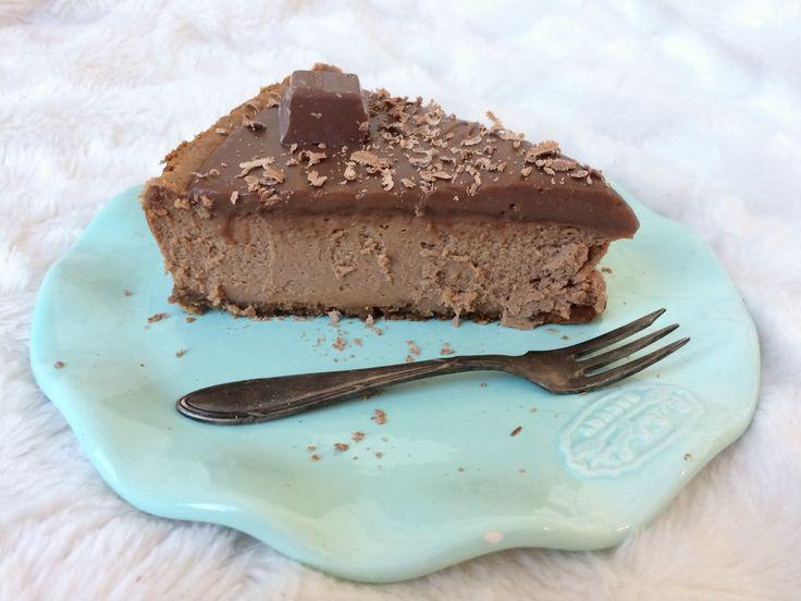 Karamel zeezout chocolade cheesecake