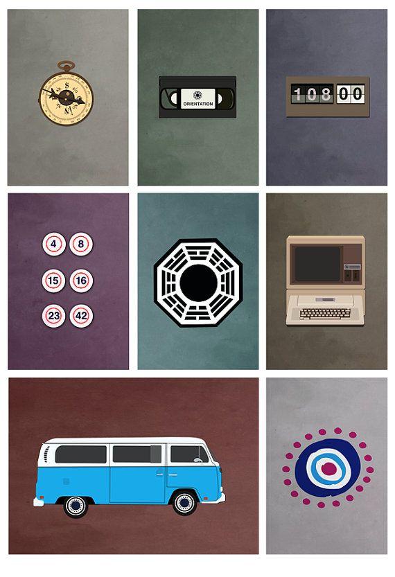 exposition de tv perdu affiche des couleurs (8 x 10, 11 x 14, 11 x 17 ou 13 x 19)