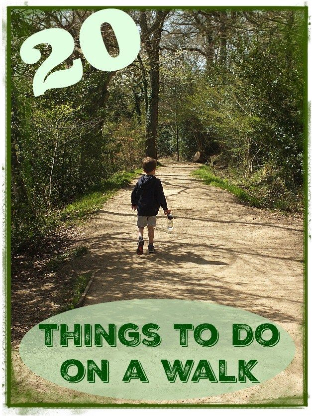 20 things to do on a walk with kids. These fun ideas will keep the kids busy…