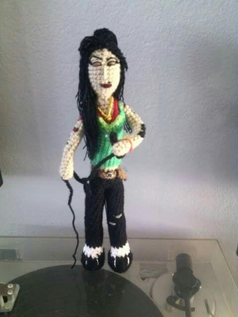 Amy Winehouse del festival de Glastonbury. Crochet