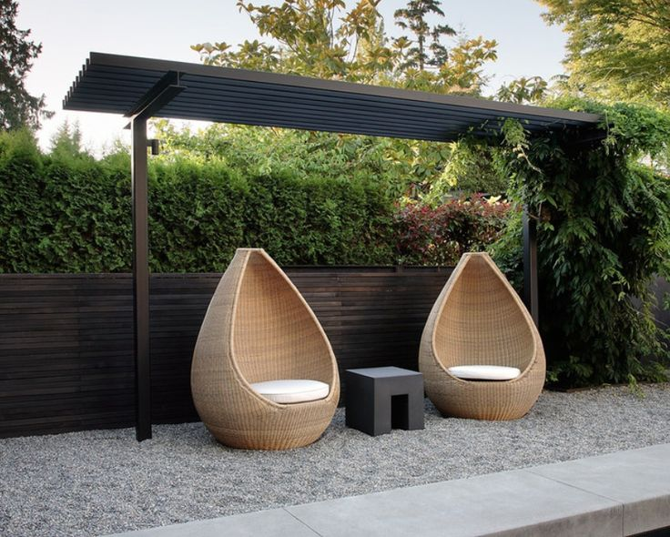 Pergola - tear drop chairs