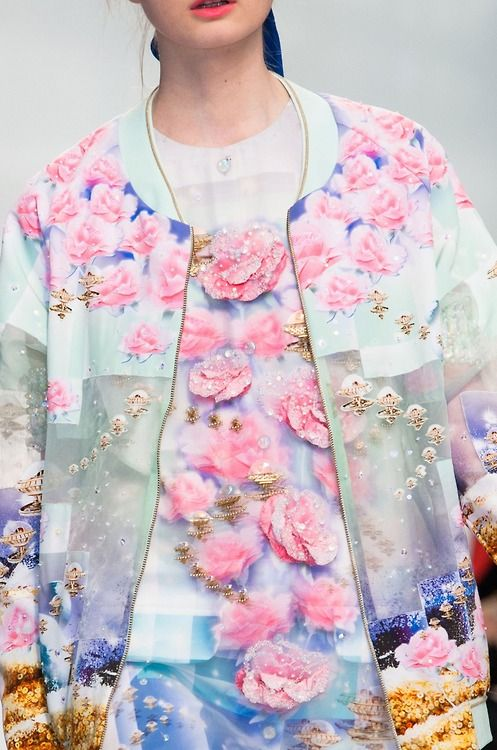 manish arora ss15, fashion, style, graphic print, floral print, roses, sweater