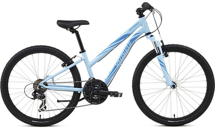 Hotrock 24 21 Speed Girls  Durable A1 Premium Aluminium frame, a suspension fork with 50mm of travel, and wide range gearing make the Hotrock 24 21-speed trail-ready for big kids....