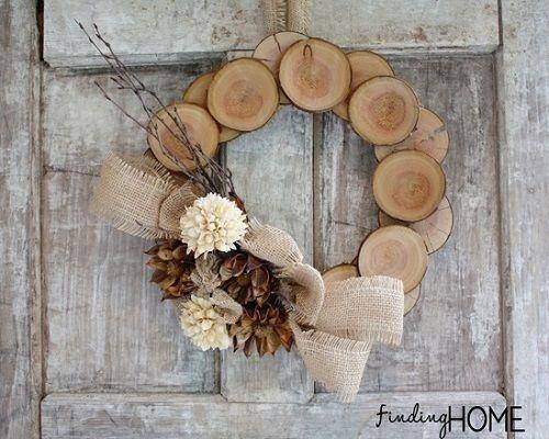 Corona de Navidad de madera de Finding Home