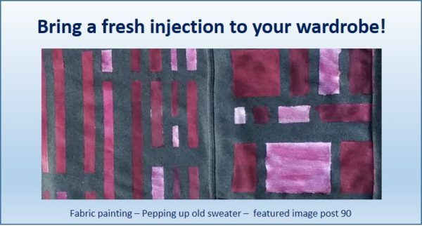 No 90 – Fabric Painting – Bring a fresh injection to your wardrobe!