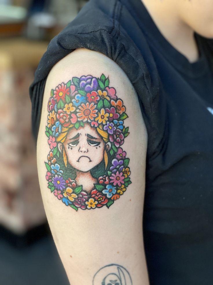 Midsommar tattoo done by mal zacharia at nyc tattoo shop