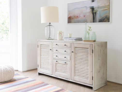 Grand Sucre is our gorgeous large sideboard. It's hand carved from solid reclaimed fir with our beautiful beached timber finish and vintage-y bronze knobs.