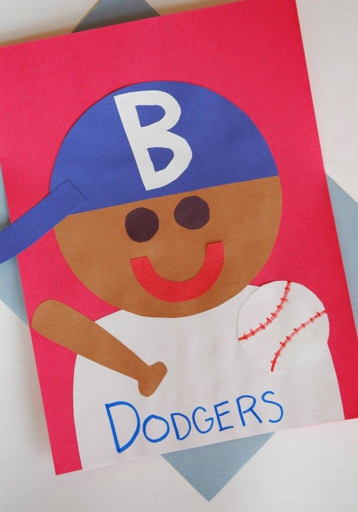 Jackie robinson craft for F crafts for toddlers