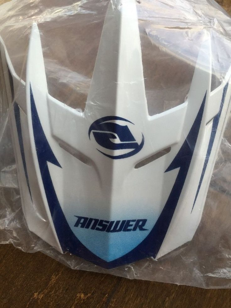 Answer Motorcycle Dirt Bike Helmet Visor A9 Comet Alpha White Blue Bikers Choice #Answer #HelmetVisors