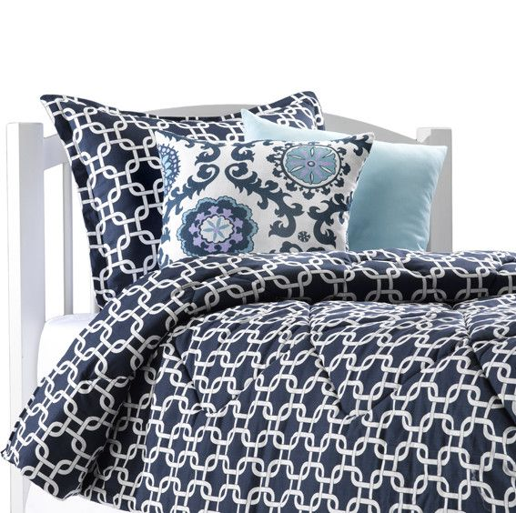 Navy Blue College Bedding – American Made Dorm & Home