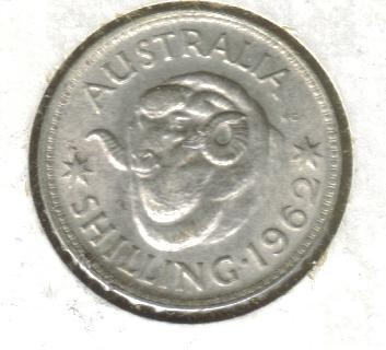 Old Australian Coins One shilling (now 10 cents)