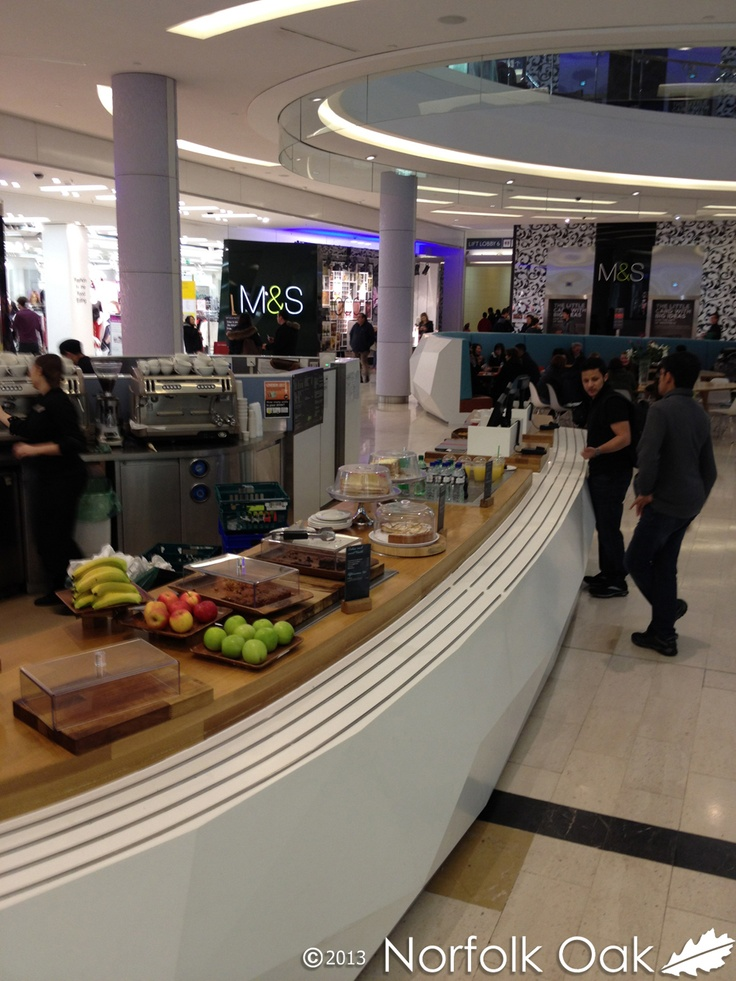 Here's another photograph of our worktops at Marks and Spencer's at Westfield London.  http://www.norfolkoak.com/commercial-joinery/