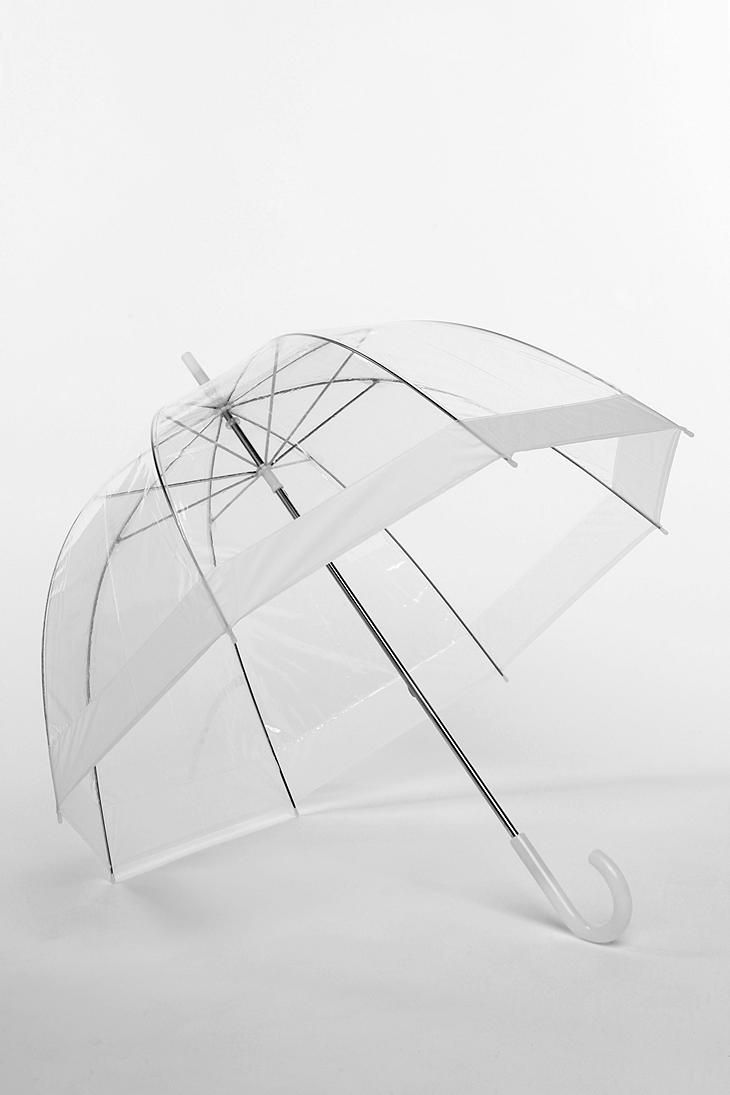 Bubble Umbrella in White. Available in 8 colors. Urban Outfitters. $18.00