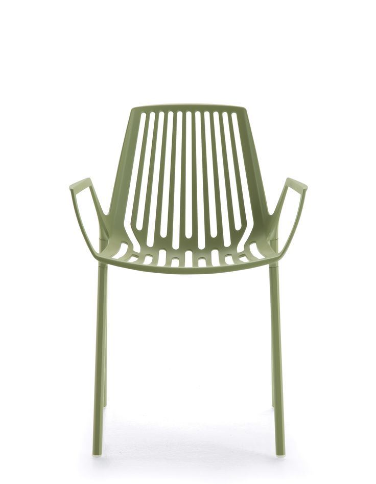 RION collection. Armchair Sage Green / Poltrona Verde Salvia. FAST IN_OUT_ALUMINIUM
