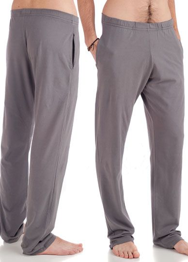 "Beckons Organic Strength Men's Yoga Pant Extra Long (36"" seam) Charcoal @ www.downdogboutique.com  $80 #YogaClothesMen #Yoga"