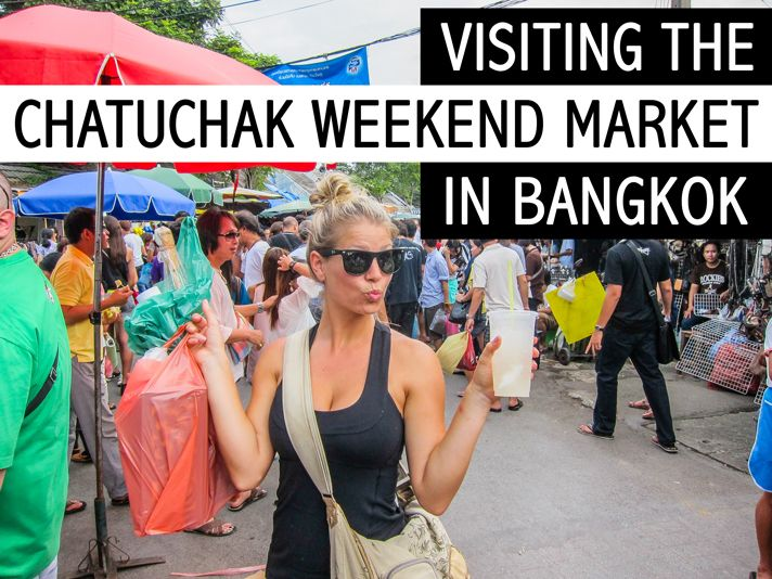 Visiting the Chatuchak Weekend Market in Bangkokisretail heaven. As soon as Iwalked in I just about died from excitement!  Anything you could possibly think of is sold at this market.So, if you wanna bringhome a little somethin somethin,definitely plan on coming here. I grabbed some