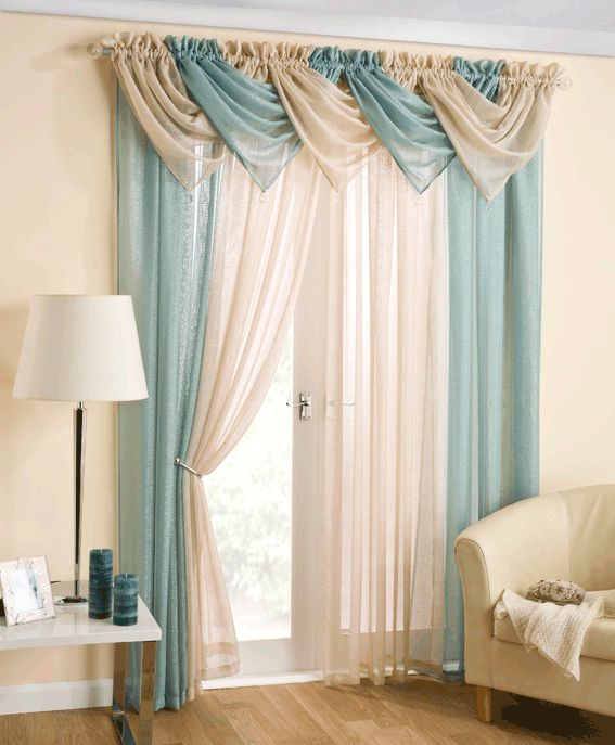 """Casablanca Voiles and Swags. Available in various sizes and colours. Swags £5.99 Each. 54""""x48"""" - £6.99 54""""x54"""" - £7.99 54""""x72"""" - £8.99 54""""x90"""" - £9.99"""