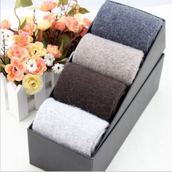 Export 2016 winter warm men wool socks business man box-packed thicken simple socks sir's gift factory direct wholesale 074