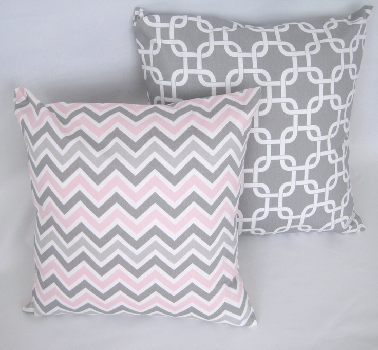 Pink And Grey Decorative Pillows : 102 best images about COLOR: Gray Home Decor on Pinterest Grey, Gray kitchens and Modern ...
