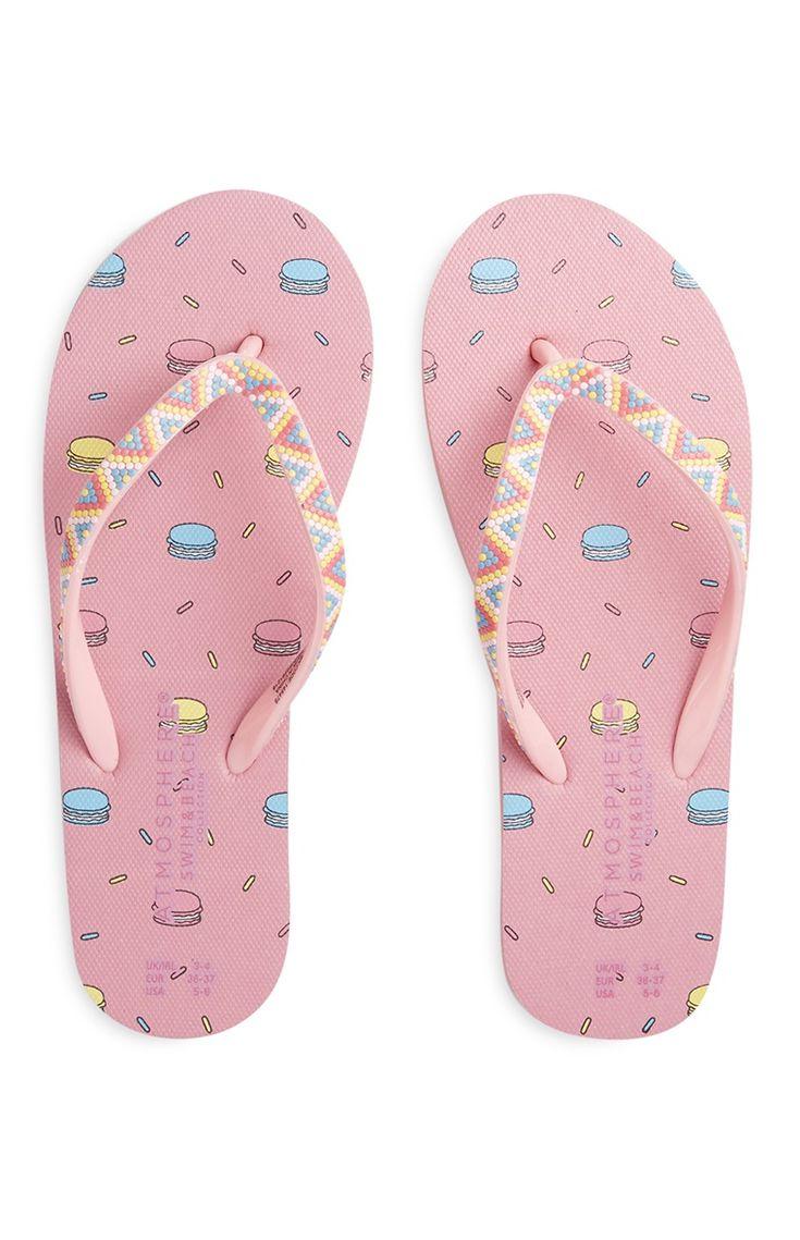 Primark - Chinelos de dedo estampados cor-de-rosa