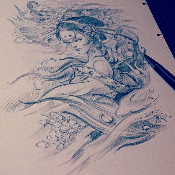 Chronic Ink Tattoo - Toronto Tattoo Sketch by Master Ma.: