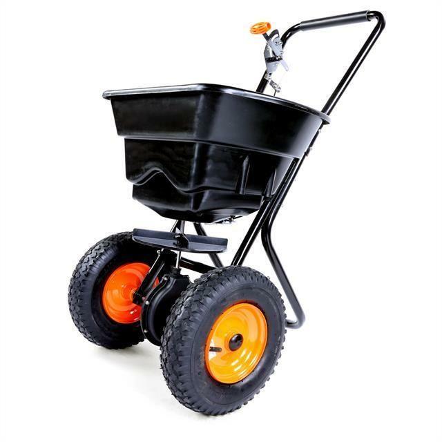 Fuxtec Edelstahl Handstreuwagen 45l Dungerstreuer Streuwagen Salzstreuer Dunger Outdoor Power Equipment Baby Strollers Lawn Mower