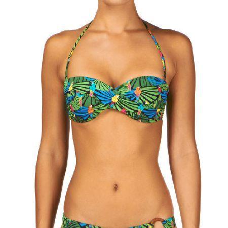 Huit Womens Huit Treasure Island Twisted Strapless Womens twisted bandeau bikini top