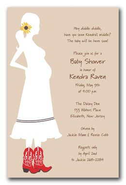 western baby shower invite. I want these when the time comes.