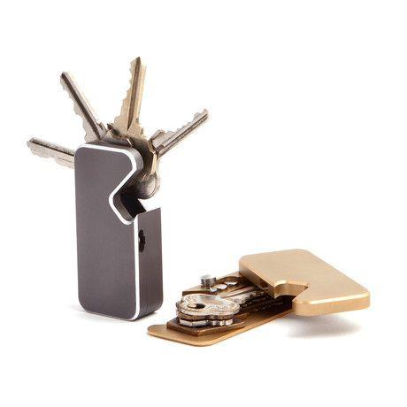 Swivel Key Wallet // 4 Key (Black)