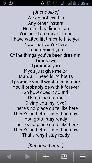 Jhene Aiko Stay Ready Lyrics