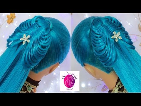 Coleta Elegante Mariposa   Trenzas faciles y bonitas   peinados con coletas   viriyuemoon - YouTube