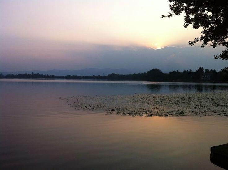 Sunset on Lake Monate