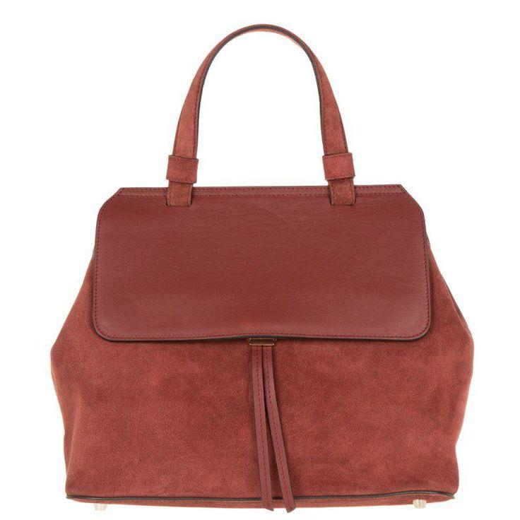 Abro Abro Tasche – Kaleido Velvet Satchel Oxblood – in rot – Henkeltasche für Damen