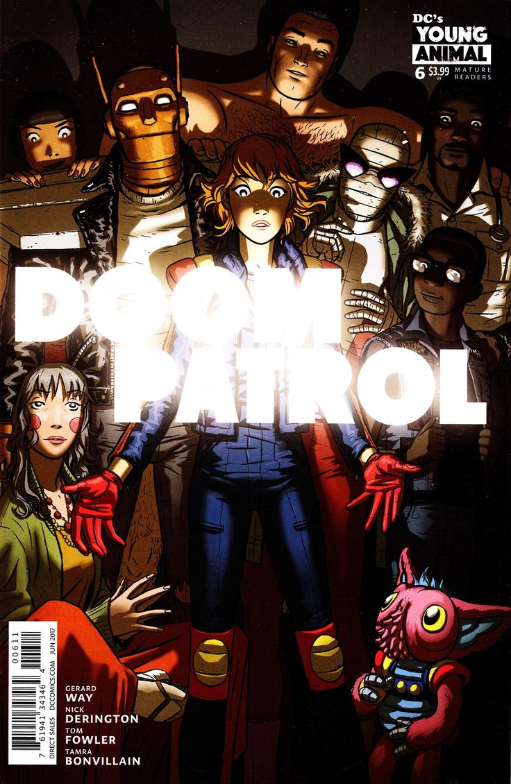 Doom Patrol #6 (June 2017) Cover by Nick Derington Young Animal / DC Comics | Doom patrol. Young animal. Comics