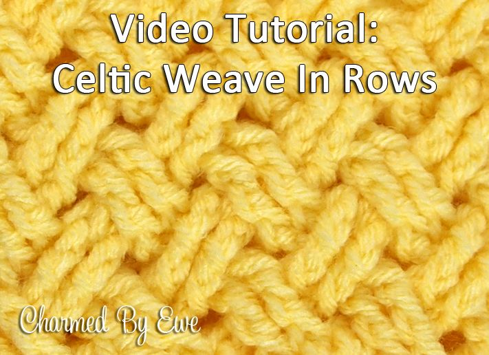 Crochet Tutorial: Diagonal Celtic Weave in Rows