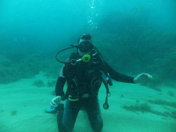 probando un nuevo medio...aguanta el equilibrio bajo el #agua