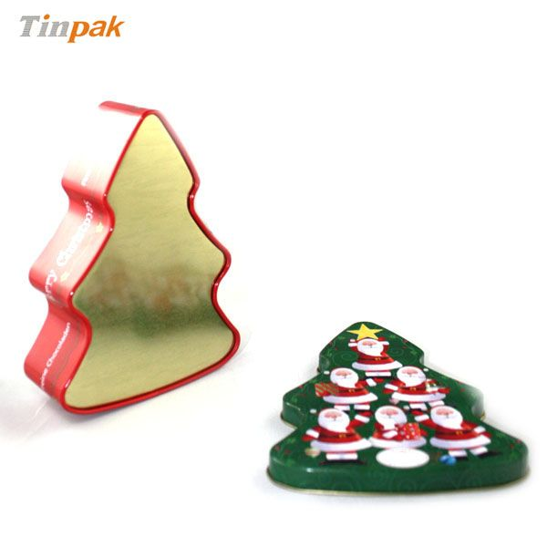 With Food grate tinplate, food grade internal lacquer, this Christmas tree tin box is not only a catching focus for tourist consumers.