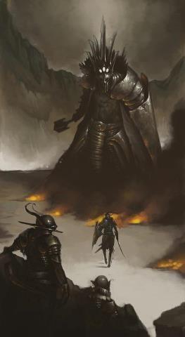 Fingolfin challenging Morgoth- from The Silmarillion Don McCauley http://www.freepublicitygroup.com/donmccauley