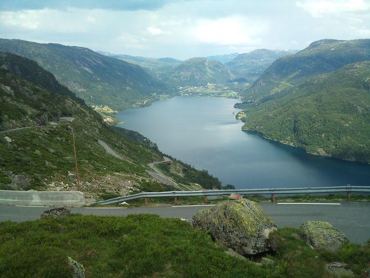 Wiev from Røldal mountain, Norway july 2014. Photo by Ann Christin Skogstad