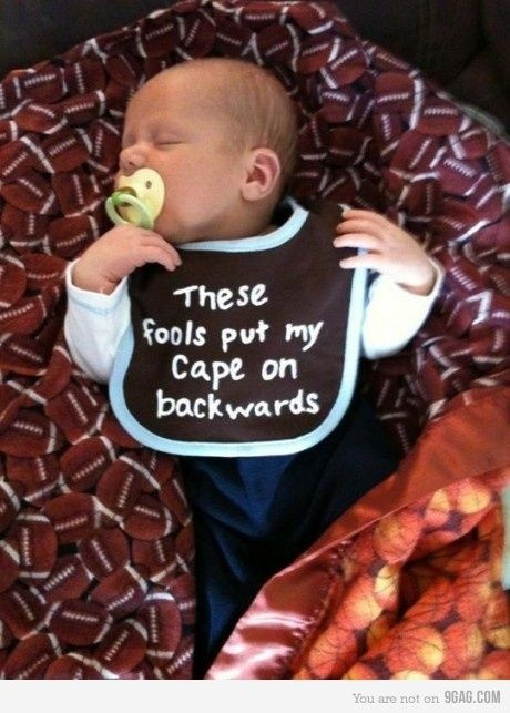 I love this!Capes, Baby Boys, Children, Future Kids, Future Baby, Baby Bibs, Funny Baby, So Funny, Baby Gift